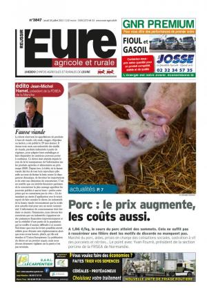 La couverture du journal L'Eure Agricole et Rurale n°3480 | avril 2015
