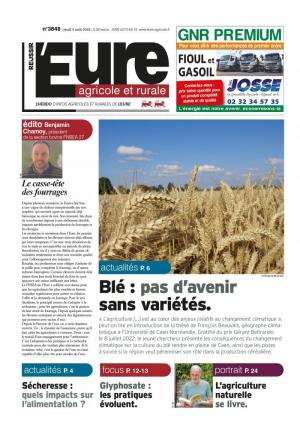 La couverture du journal L'Eure Agricole et Rurale n°3651 | septembre 2018