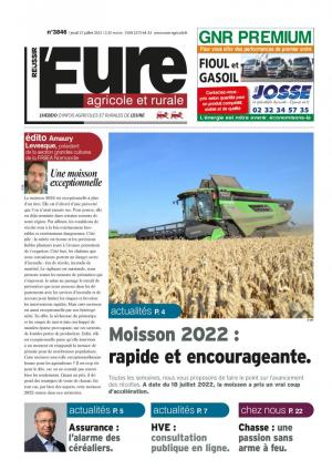 La couverture du journal L'Eure Agricole et Rurale n°3703 | septembre 2019